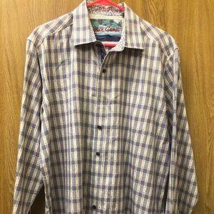 Robert Graham Men's Button Up Flip Cuff Shirt XL